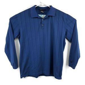 Tiger Woods Collection Large Blue Dry Fit Polo